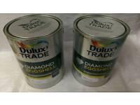 DULUX TRADE DIAMOND EGGSHELL 5 LITRES PURE BRILLIANT WHITE & MAGNOLIA BRAND NEW