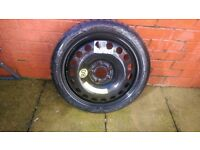 VAUXHALL 5 STUD SPACE SAVER SPARE WHEEL