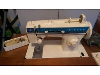 Singer Fashion Mate 288 sewing machine with integral table. 1970's.