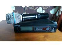 Shure slx4/beta 87c radio microphone set