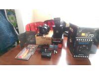 NIKON SLR CAMERA WITH AF-S 18-70MM LENS and Sigma 10-20mm wide angle lens
