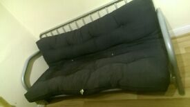 Metal Framed Double Sofa Bed: FRAME ONLY (2 Seater)