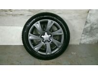ALLOYS X 4 OF 17 INCH GENUINE AUDI A5 RONAL FULLY POWDERCOATED IN A STUNNING ANTHRACITE IODINE NICE