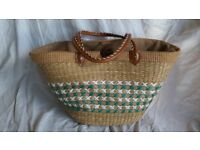 Woven Shopping Basket
