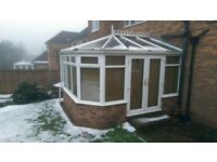 Used 3-Bay Victorian Conservatory - Collection Only. White UPVC conservatory, carefully dismantled.