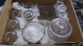 Collection of Crystal, bowls, glasses, ashtray