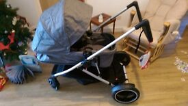 Brand New Phil & Teds Voyager Grey Marl pushchair pram stroller buggy