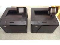 3 printers,1x Canon i-SENSYS MF8550Cdn full ink & 2x HP LaserJet Pro 400 M401dn.