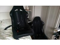 A pair of Car Bucket seats Fixed back with harness's 3 Point