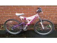 Women's 21 gear pink mountain bike