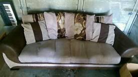 SCS Brown Fabric Sofa Lounge