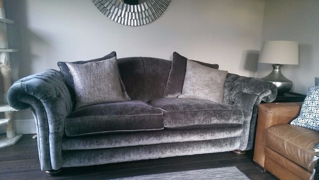 Grey Dfs Loch Leven 3 Seater Pillowback Sofa In Aberdeen