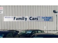 Family Cars quality cars bought & sold (scrap welcome)