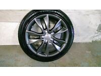 ALLOYS X 4 OF 17 INCH GENUINE AUDI/A3/FULLY POWDERCOATED INA STUNNING NEW SPEC OF ANTHRACITE NICEJOB