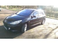 2005 peugeot 307 1.6 se hdi...black.5 door Hatchback, diesel car for sale.