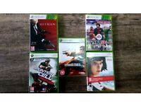 MAKE ME AN OFFER: GOOD CONDITION 5 TOP GAMES FOR XBOX 360/ COMPATIBLE WITH XBOX 1 QUICK SALE £20