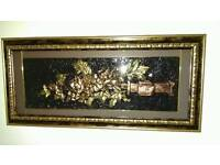 A 3d art Piece framed is for sale