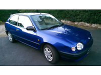 1998 'S reg' Toyota Corolla 1.3 GS 3 door hatchback for sale. £500 o.n.o.