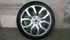 ALLOYS X 4 OF GENUINE 22 INCH RANGEROVER/VOUGE/OTHERS FULLY POWDERCOATED IN A STUNNING SHADOWCHROME