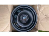"VW Golf polo mk4 genuine steel wheels 14"" 5x100 skoda seat set of 4 new + one 17"" alloy"