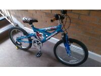 "Boys bike 20"" suspension/gears approx 7-9 yo Magna Striker"