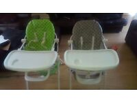 Two used high chairs.
