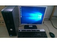 "Dell Optiplex 780, Core2Quad Q9400, 6GB, 500GB, DVDRW, card reader, 19"" flat screen, Windows 10 Pro"