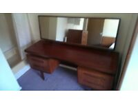 Gplan Fresco Teak Dressing Table with mirror