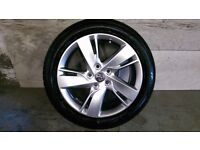 ALLOYS X 4 OF 17 INCH GENUINE VAUXHALL ASTRA NEW SHAPE FULLY POWDERCOATED IN A STUNNING SHADOWCHROME