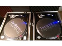 Technics SL-1210M5G Decks (pair), Mint Condition, Not A Single Scratch, Flight Cases Included