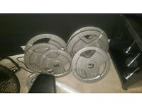 165kg olympic plates.
