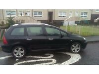 Peugeot 307sw, 7 seater 13 months mot swap WHY