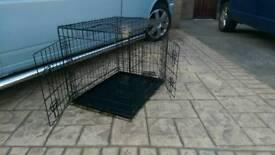 3ft x 2ft collapsible dog / pet enclosure , 2 doors , suit a medium dog , good condition