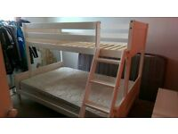 bunk beds for sale , small double on the bottom , no top single matress