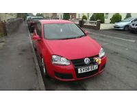 volkswagen golf 2.0 gt tdi red 140bhp