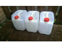 Water oil food containers 15 litres x3 food standard, drums barrels camping storage liquid