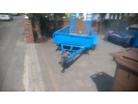 2 ton indespention twin axel plant trailer