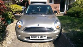 MINI ONE 3 Door Hatchback (Silver) 2007 (Petrol) Only 53,842 miles (2 owners) Panoramic Sunroof