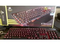 CORSAIR K70 LUX RED LED BROWN SWITCHES
