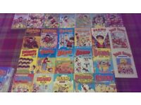 Beano and Dandy annuals plus other books