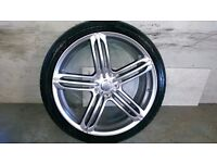 ALLOYS X 4 OF AUDI Q7 S/LINE 22/INCH/ REPLICA/FULLY POWDERCOATED IN A STUNNING SHADOW CHROME NICE