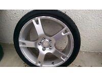 """4 good Seat Ibiza 17"""" alloys with 2 good tyres"""