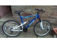 """unisex full suspension mountain bike 17"""" frame"""