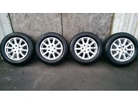ALLOYS X 4 OF 18 INCH GENUINE PORSCHE/CAYENNE/IN EXCELLENT CONDITION WITH MICHELLIN TYRES FITTED