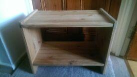 2 Wooden bedside shelves