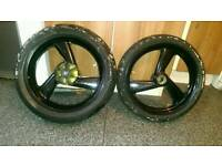 Cagiva mito 125 wheels with tyres