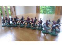 Warhammer 40000 Dark Eldar warriors