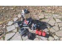 bosch 24v cordless mitre/chop saw 3 x batterys Jigsaw & power planer and charger makita dewalt snap