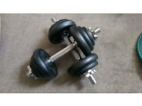 2 x 5kg Dumbbells with removable weights
