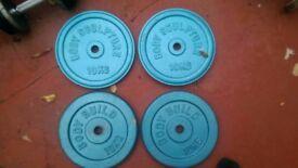 4 x10 kg cast plates